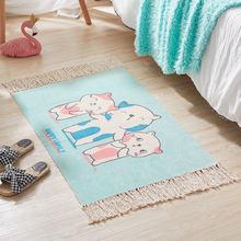 Ковер из хлопка и льна ручной работы с мультяшным рисунком, прикроватный коврик, напольный коврик для детской комнаты, коврики для гостиной,...(Китай)