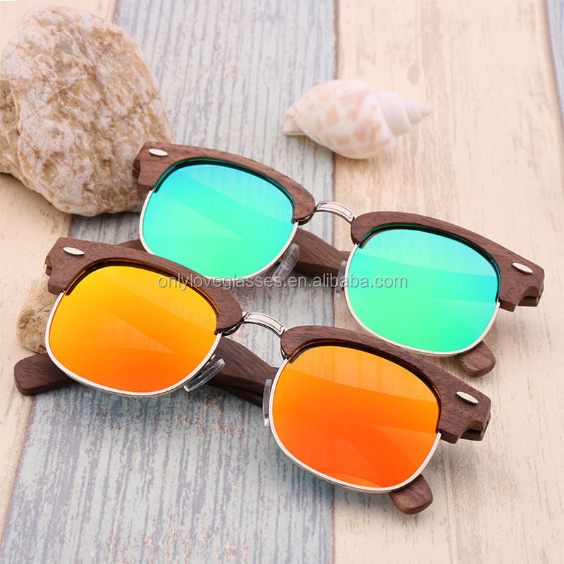 Custom logo master made polarized wood sunglasses