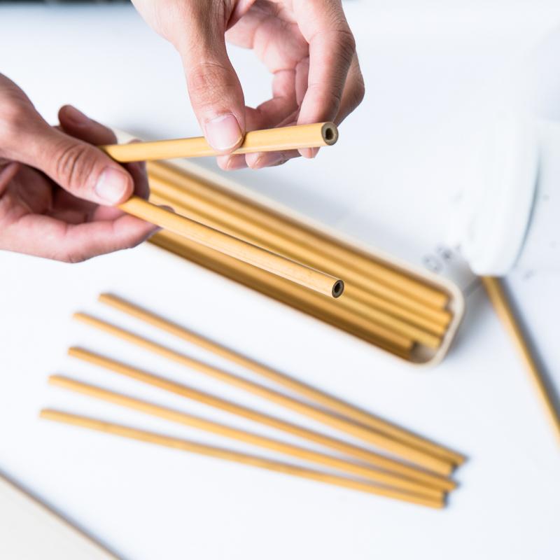 Natural Handmade  Factory Directly Selling Organic Bamboo Straw,Reusable Bamboo Drinking Straws