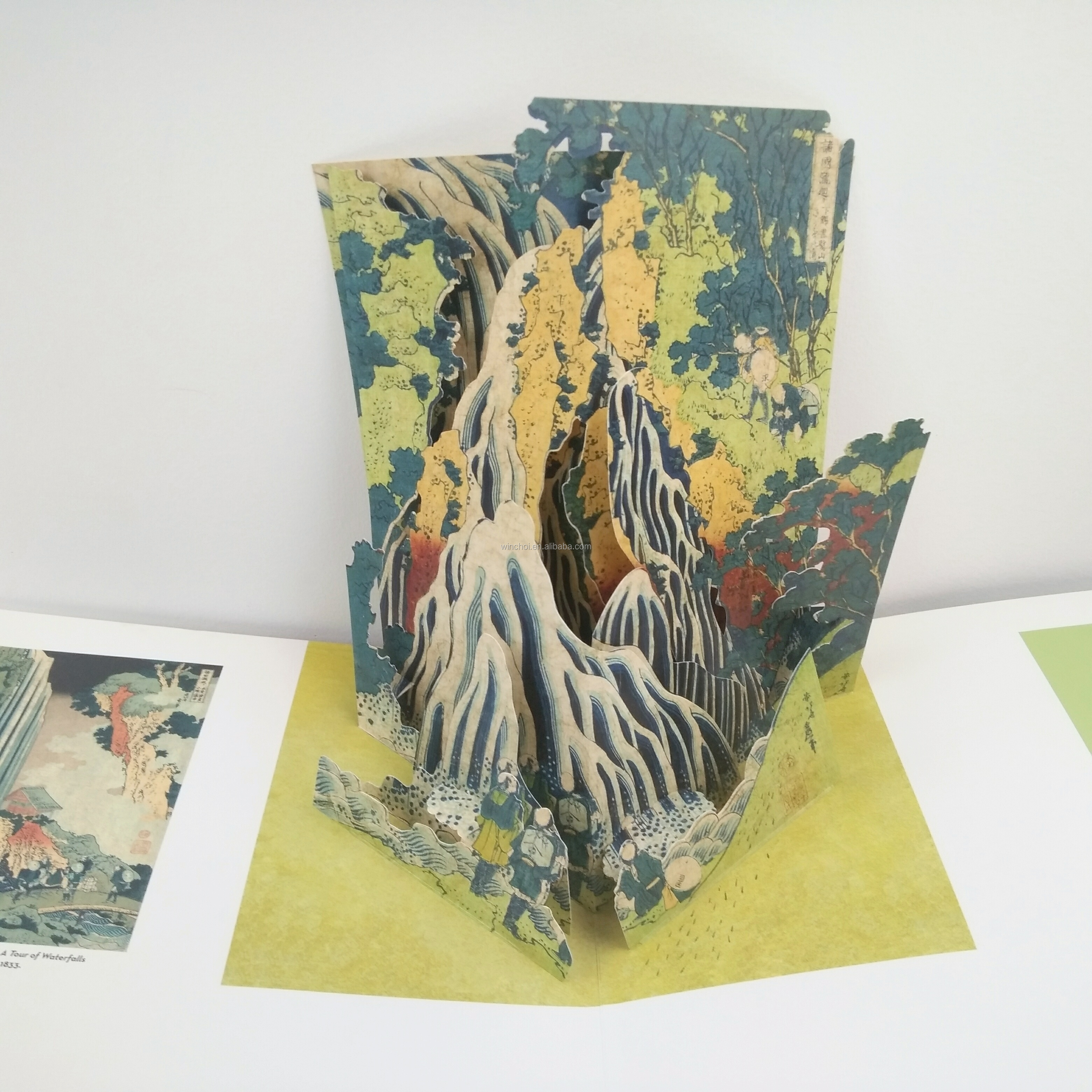 Complicated high-quality hand works offset color 3D paper pop up book printing