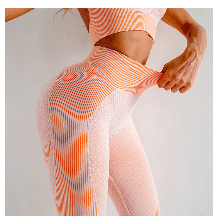 Seamless Yoga Clothes Autumn And Winter New Knitted Hip-Lifting Elastic Fitness Sports Three Piece Suit