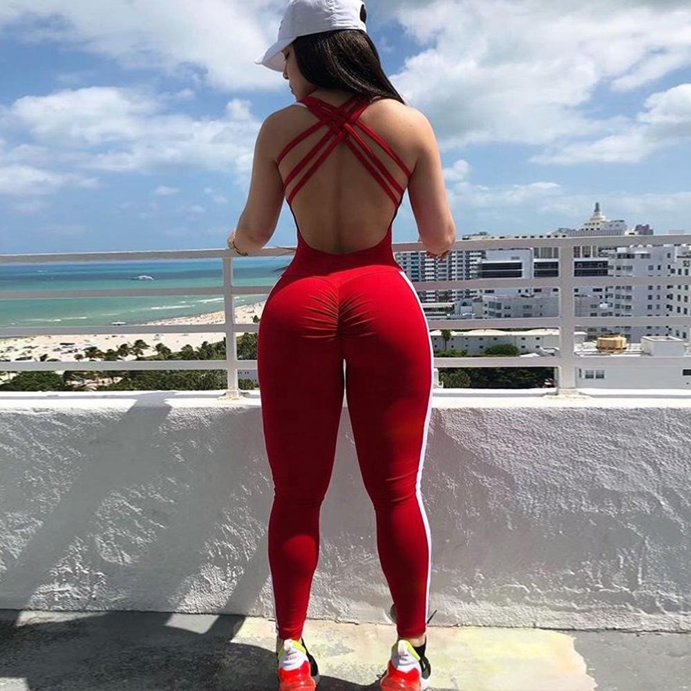بدلة رياضية قطعة واحدة للنساء لممارسة التمارين الرياضية لليوجا والصالة الرياضية
