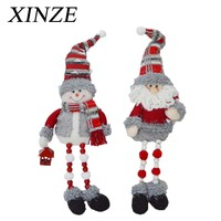Sitting Santa claus Snowman Christmas ornament
