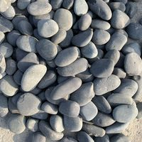 garden decoration washed black river pebble stone
