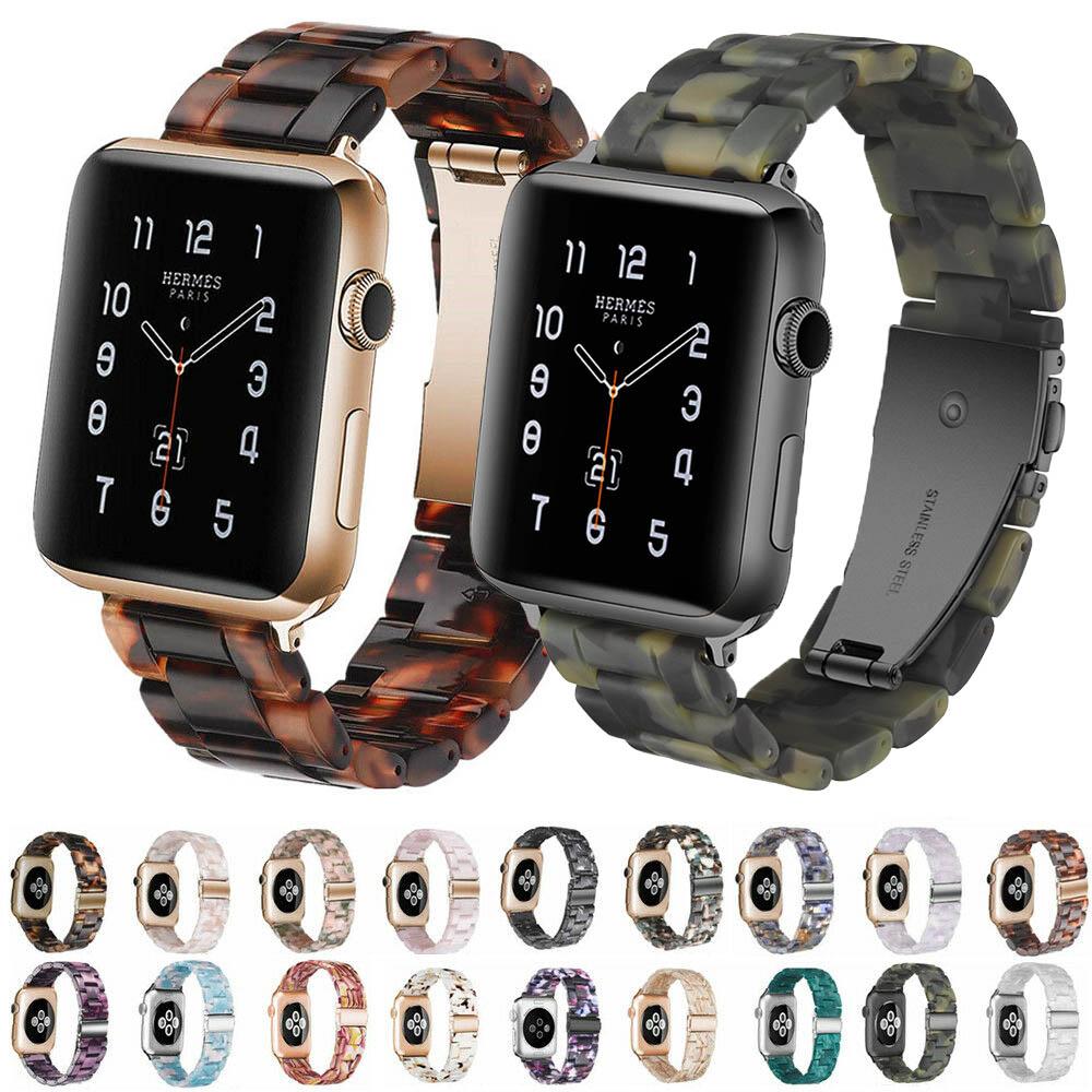 שרף רצועת עבור אפל שעון iWatch סדרת 6 5 4 3 2 1 יד להקת שעון החלפת צמיד