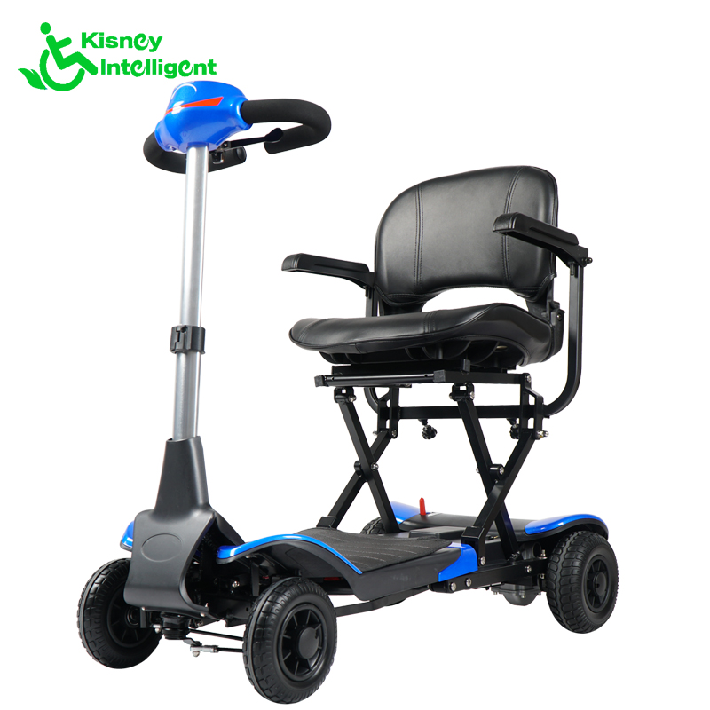 Cheapest 4 wheel lightweight foldable mobility scooter for the elderly and disabled
