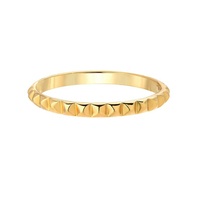 Women Delicate Stainless Steel Gold Plated Spike Ring Fashion Ring Jewelry