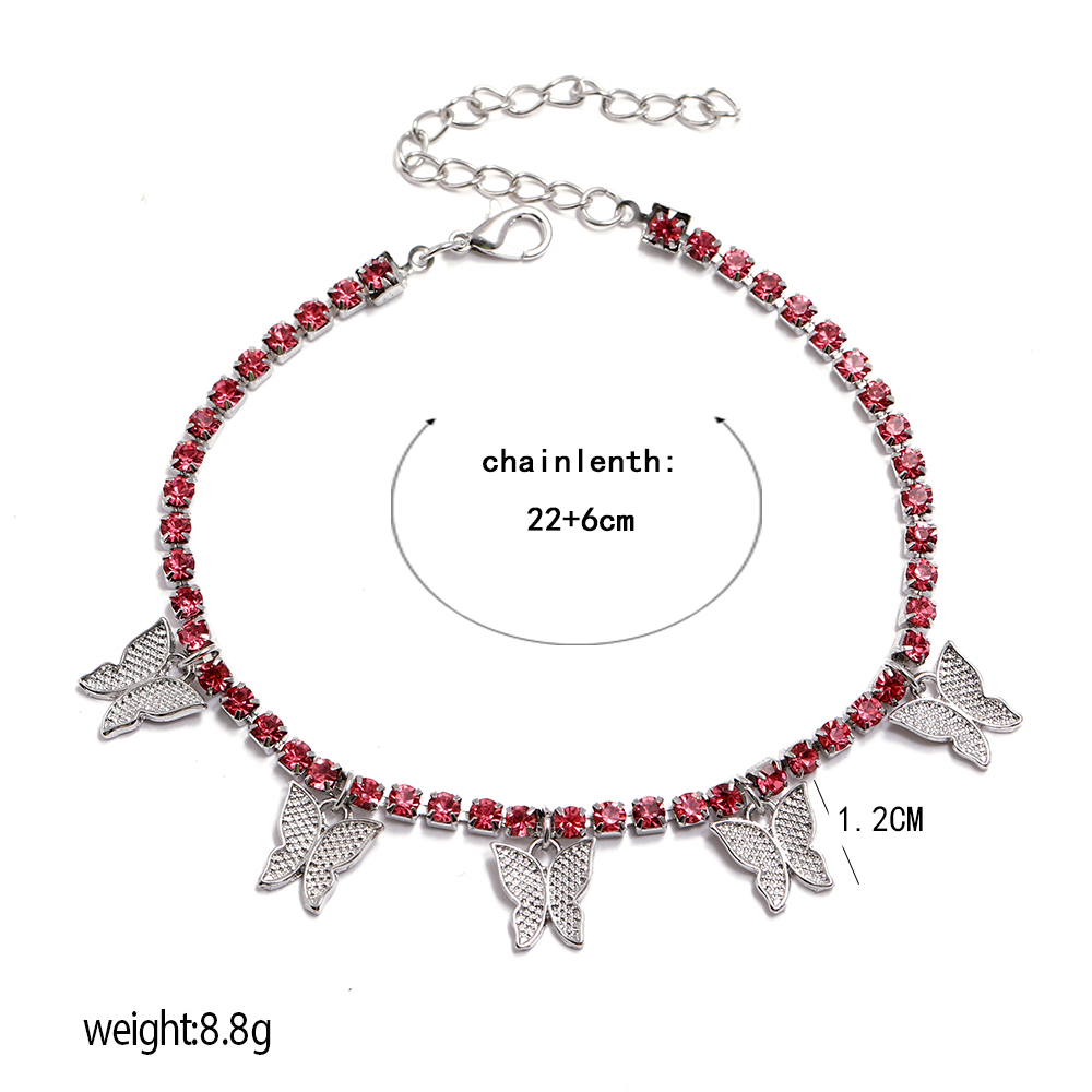 Fashion gold and silver diamond butterfly beach anklet for women Wholesale N207141
