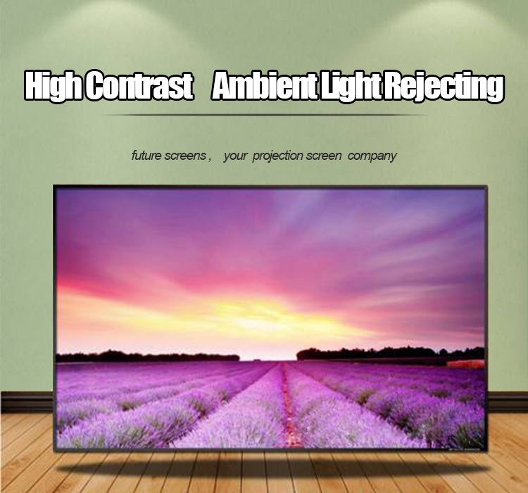 "Future Screens 100"" 16:9 High Contrast ALR Black Crystal Projection Screen  For 4K Projector"