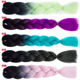 synthetic ombre double Color Synthetic Hair Braiding,jumbo crochet braid hair extention,100g 24inches