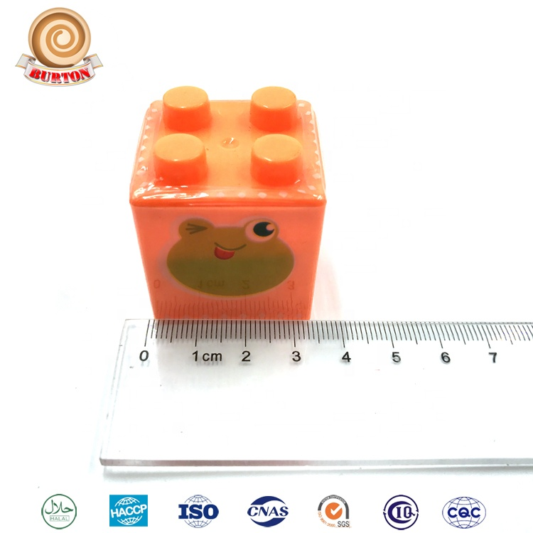 New Building Block Shape Toys Candy with Tattoo Paper