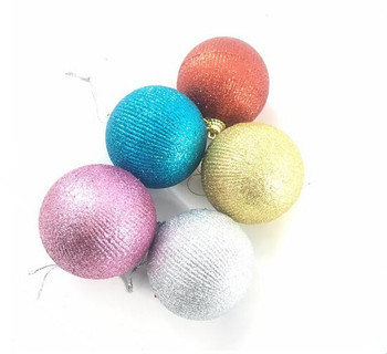 Lighted Color Changing Porcelain Outdoor Sublimation Large Christmas Balls For Ornament