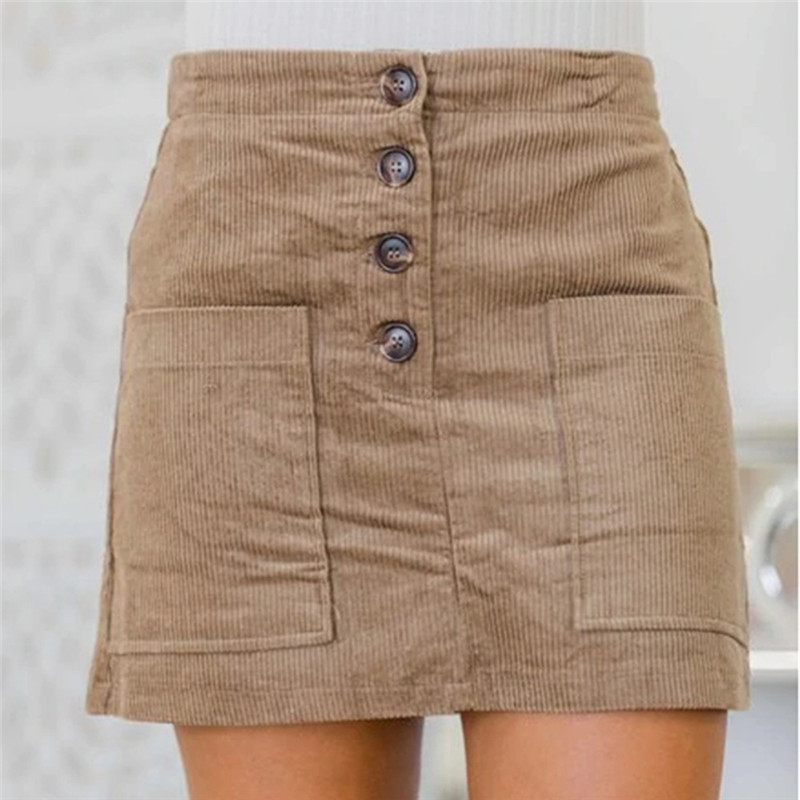 2020 Hot New Women's Short Skirts With Pocket Nightclub Autumn And Winter Skirts