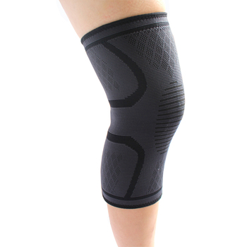 Wholesale Elastic Weightlifting Fitness Silicone Knit Compression Knee Sleeve