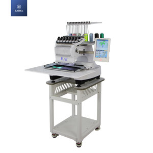 BAI high speed multifunctional single head 15 needles computer cap flat embroidery machine price