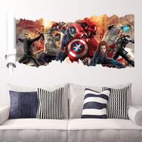 Cartoon nursery wall sticker Marvel's Avengers wall sticker for kids room decoration