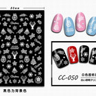 3d Nail Sticker 3d Stamping Gold Sliver Laser Red 3D Xmas Christmas Winter Snowflake Decals Decorations Adhesive Nail Sticker