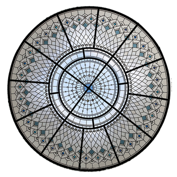 Customized factory price tiffany style stained glass skylight dome hotel and home dome skylight decorative