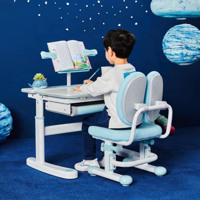 IGROW para crianças mesa de estudo e cadeira mesa de estudo com estante