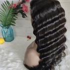 Deep Wave Hair Human Raw Virgin Brazilian Extension, Cuticle Aligned Deep Wave 13*4 Lace Front Wigs On Sale