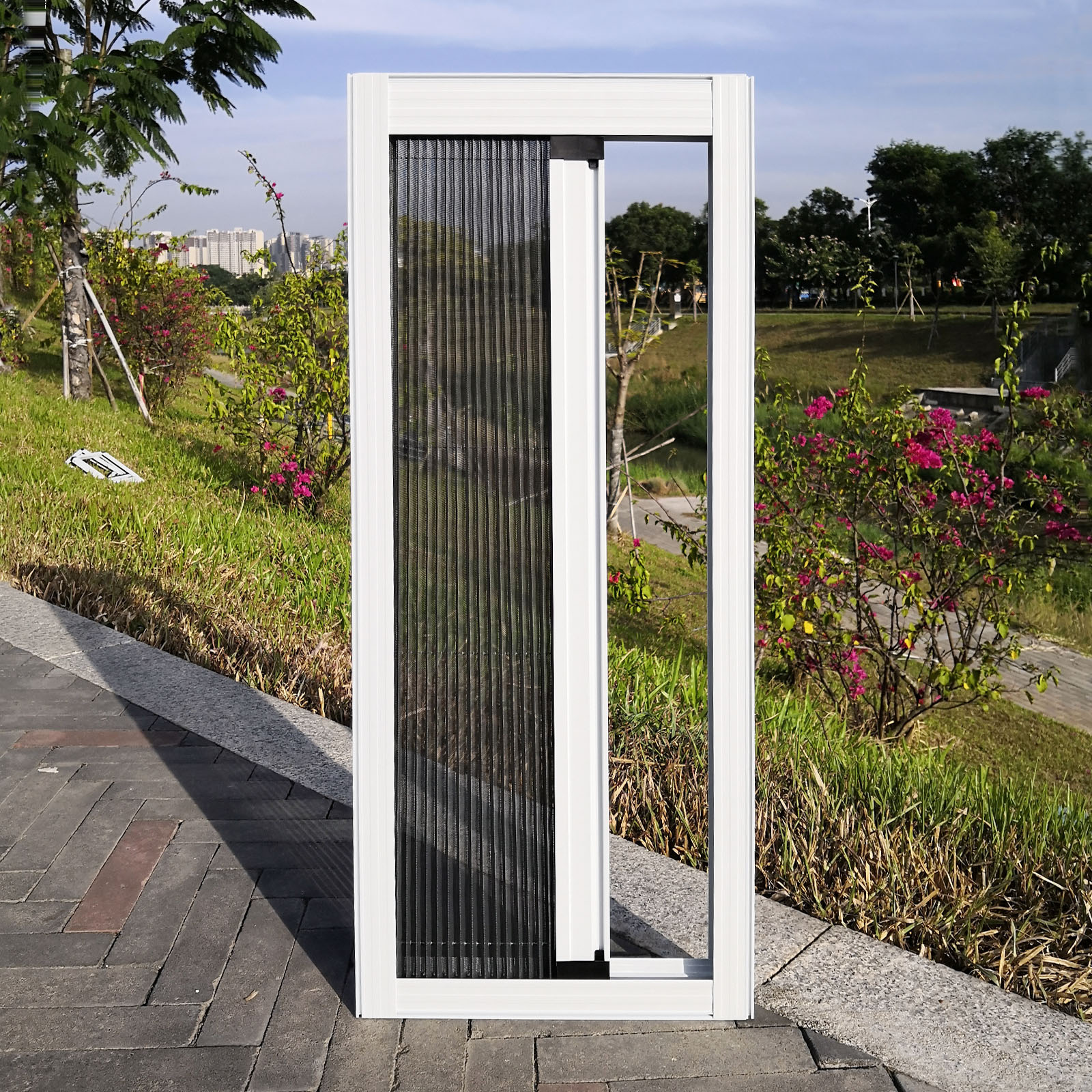 Door fire door screens Folding Screen plisse fly screen window screen cover