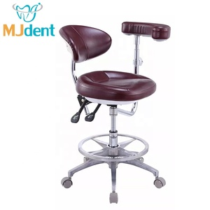 High Quality Dentist Chair Assistant Dental Stool with Armrest