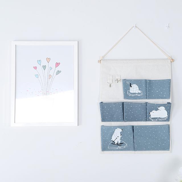 Wall Hanging closet organizer & bag for room Bathroom sundries