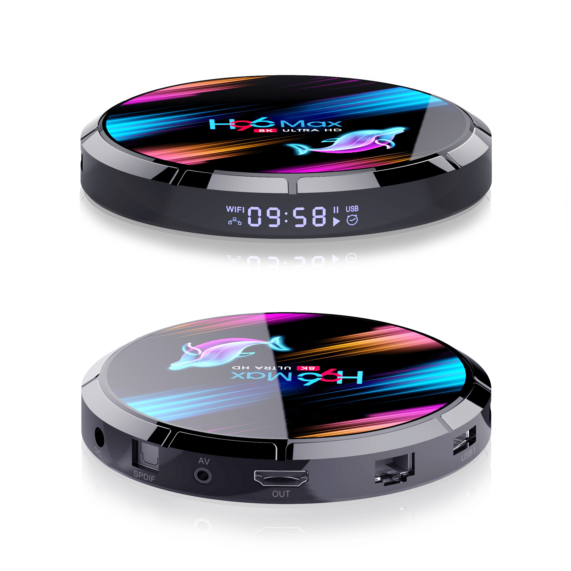 Бесплатная доставка 2020 горячая Распродажа ТВ приставка 128GB H96 Max X3-S905X3 9,0 android ТВ приставка Поддержка DLNA, Miracast, Airplay