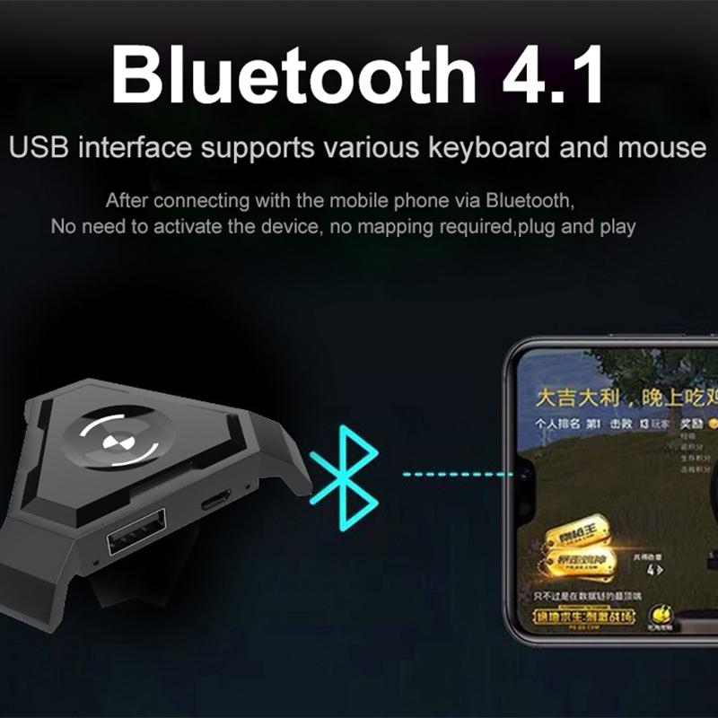 Wireless Keyboard and Mouse Converter for PUBG Mobile, Play FPS Mobile Games with Keyboard and Mouse Adapter PUBG Mobile Battle