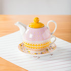 Elegant afternoon tea hotel used colorful teapot cheap porcelain tea for one set