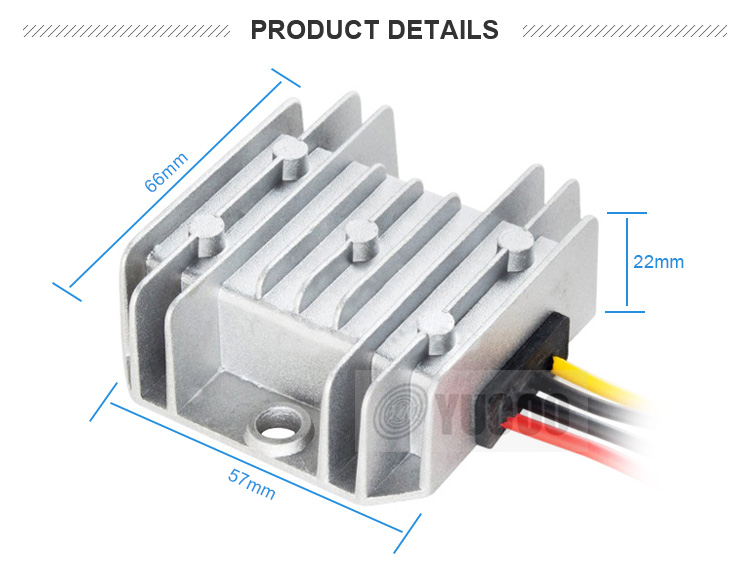 High efficiency aluminum housing buck 24v dc to 12v dc converter 5A for sale