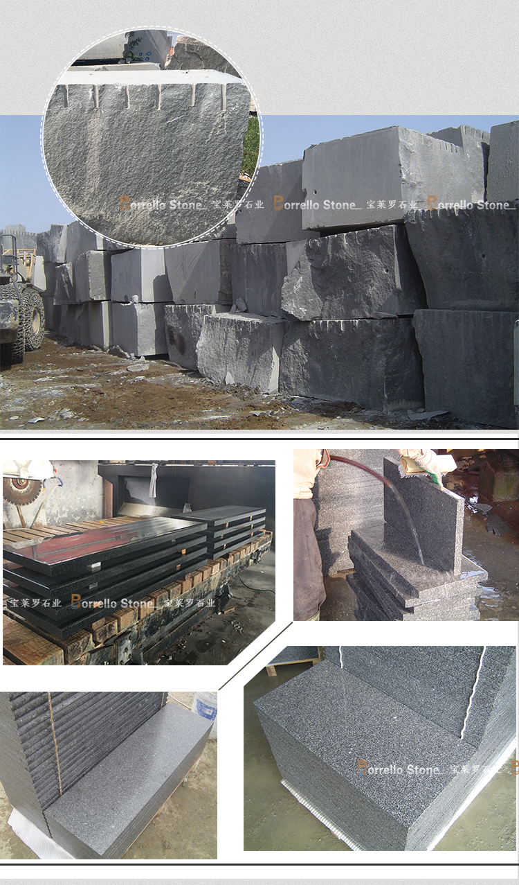 China Grey Granite G654 Flamed stone Floor Tile