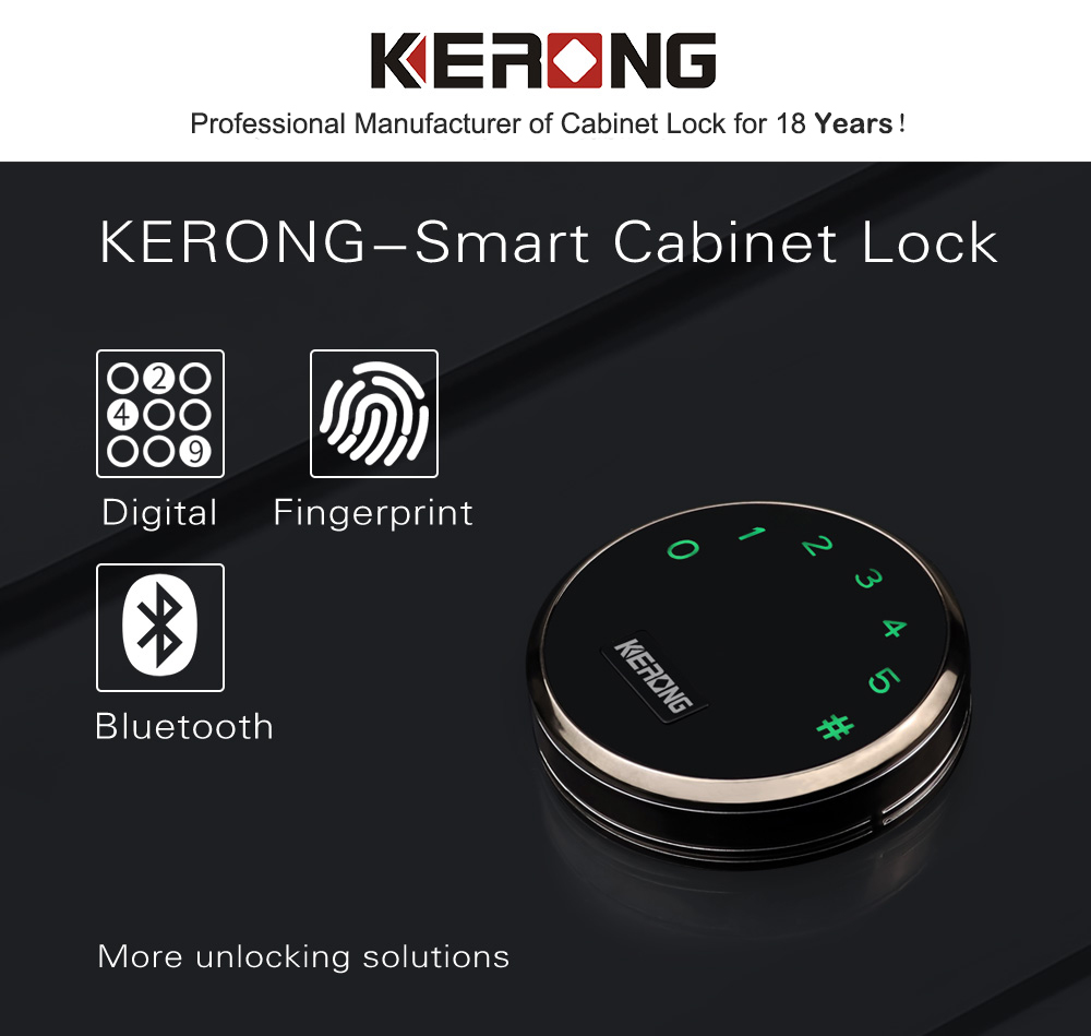 KERONG Smart Gym Electronic Colored Self-Service Metal Storage Password Mobile Charging Locker Lock for Changing Room, Sauna