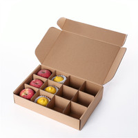 custom mailing kraft brown dividers fresh apple packaging folding corrugated paper box for fruits
