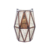 CH-1006 New style home decor square glass and gold lantern candle holder