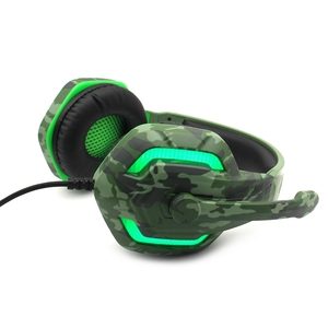 KOMC Super Bass Gaming Headset Audio Earphone Light Headphone With Microphone For Computer PC Gamer