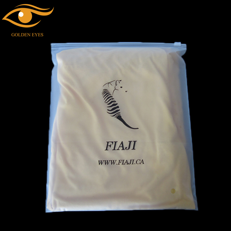 Horizontal ziplock bags with logo for swimwear packaging pvc zipper bag clothing ziplock bags reusable