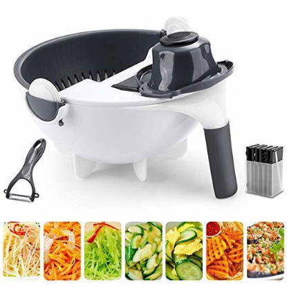 Kichen tools kitchen accessories vegetable chopper 9 in 1 multifunction vegetable <strong>spiral</strong> <strong>cutter</strong>