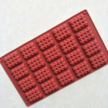 Biscuit Waffle <span class=keywords><strong>Cetakan</strong></span> 1/12/20 Rongga Mini Rectangle Waffle Desain Biskuit Coklat <span class=keywords><strong>Cetakan</strong></span>