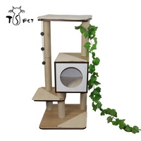Cat Climbing Scratcher MDF Tower Condo Colorful Luxury Wooden Large Cat Tree