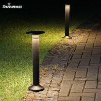 Savia IP54 Waterproof 3000k Outdoor Lighting Led Pc 6w 600lm Led Post Light Outdoor Garden Park Bollard Lawn Pathway Lamp