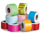 "4""X6"" Inch direct thermal label sticker paper Electronic balance paper, color printer labels Red Orange Yellow Green Brown Pink"