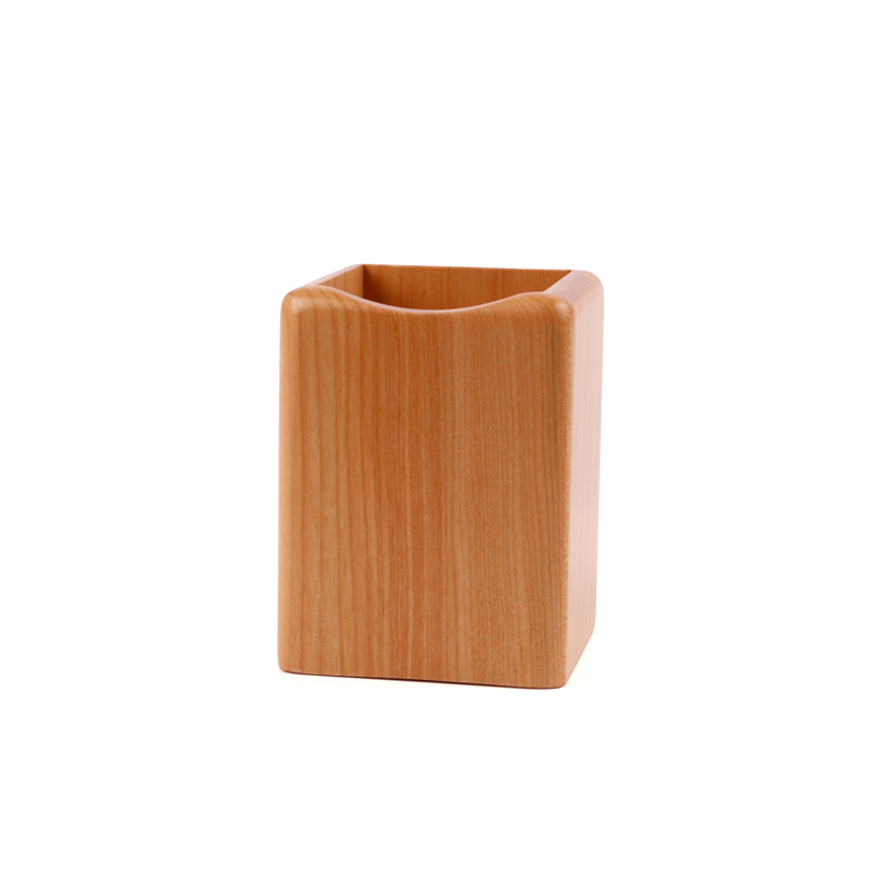 Square shaped Beech wooden <strong>pen</strong> <strong>holder</strong>