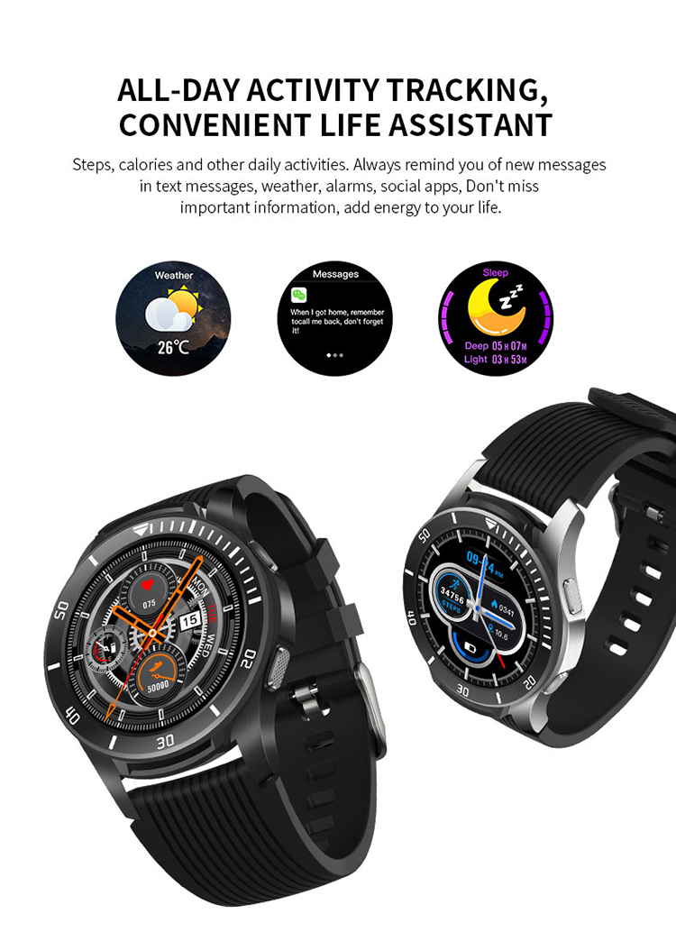 CE ROHS Full Touch Screen Wristwatch GT106 Smartwatch IP67 Waterproof Fitness Wholesale Heart Rate Track Reloj Sport