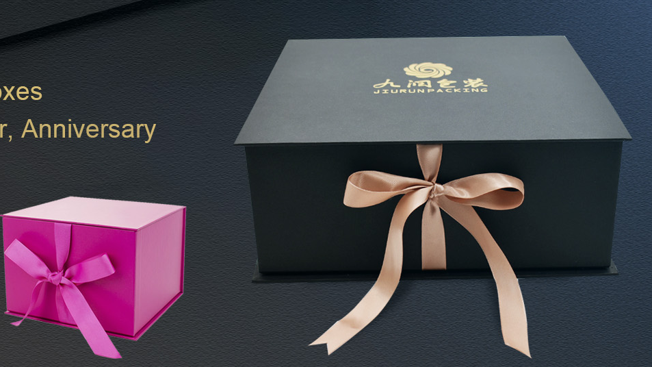 Wedding Paper Cardboard Box Packaging Custom Magnetic Gift Box with Ribbon