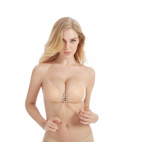 Bra Model Backless Strapless Adhesive Silicone Push Up Bra