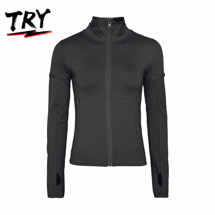 Activewear clothing women athletic sportswear long sleeve high quality yoga wear winter jackets for running hiking yoga training