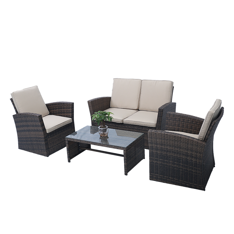 2020 hand made sofas furniture rattan wicker single sofa ottoman