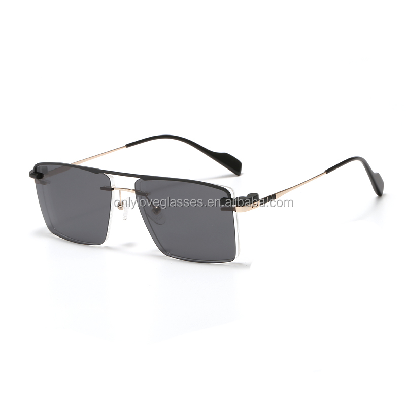 Metal optical frame with magnet clip on polarized sun lens in stock NO MOQ