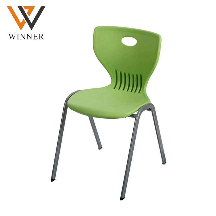 modern style plastic backrest stack chairs school plastic chair student training chairs